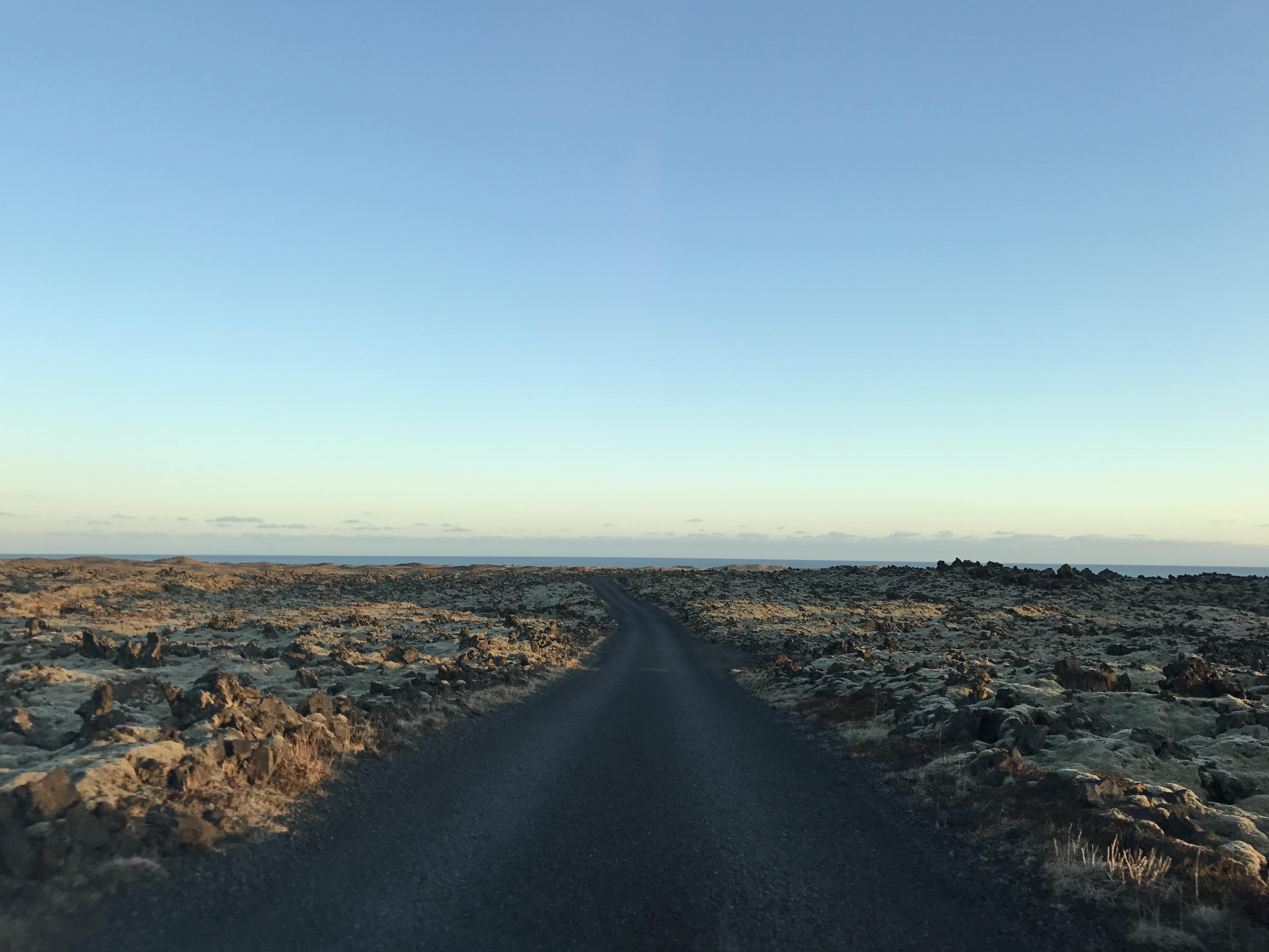 İzlanda Lav Arazi Yolu