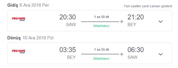 İstanbul-Beyrut Pegasus